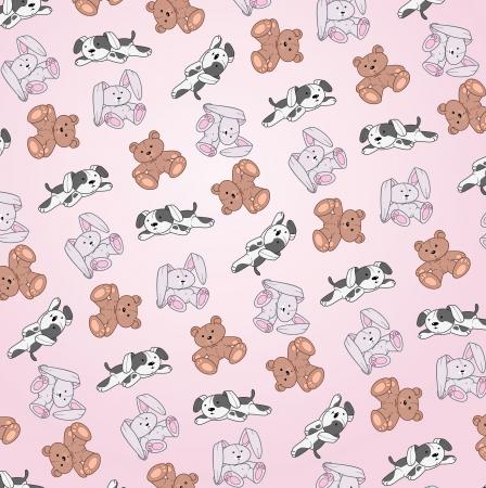 Cute animal wallpaper. Stock Vector - 16912492