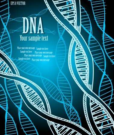 dna test: DNA strands.