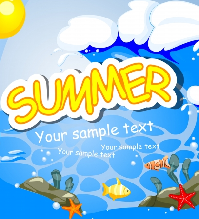 Summer background. Stock Vector - 16912436