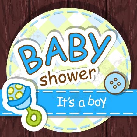 Cute baby shower design. Stock Vector - 16912637