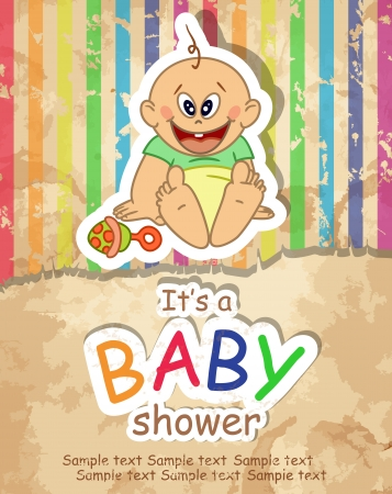 Baby Shower. Vector ilustraci�n. Eps 10.