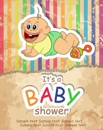 Baby Shower. Vector illustration. Eps 10. Vector
