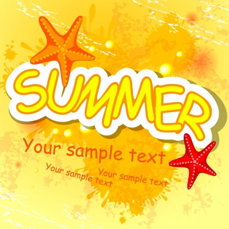 Summer background. Vector illustration. Eps 10. Vector