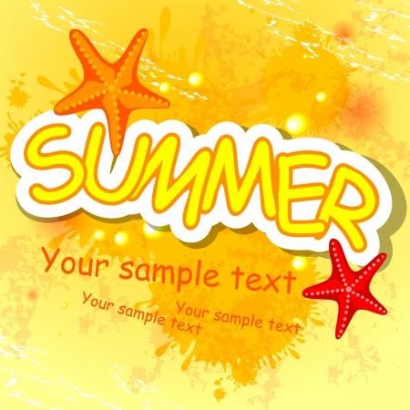 point chaud: Summer background. Vector illustration. Eps 10. Illustration