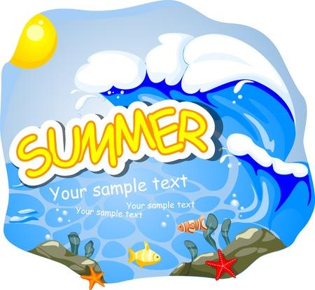 Summer background. Vector illustration. Eps 10. Stock Vector - 16922779