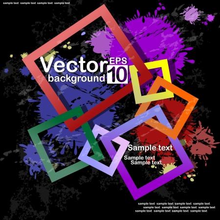 brink: Abstract Square Background. Vector illustration. Eps 10. Illustration