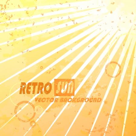Beautiful summer retro sunburst. Vector illustration. Eps 10.