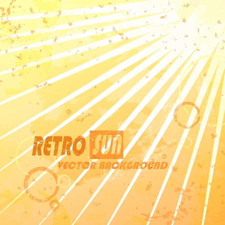 Beautiful summer retro sunburst. Vector illustration. Eps 10. Vector