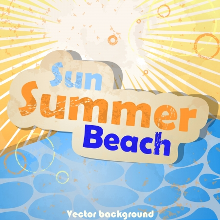 Sea, sun and beach. Vector illustration. Eps 10. Vector