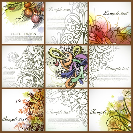 Set of floral backgrounds   Stock Vector - 16940119