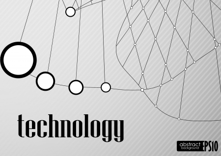 Technology  background. Vector illustration. Eps 10. Stock Vector - 16952029