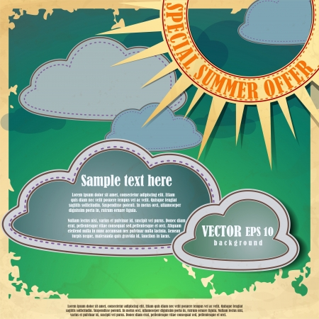 Sun and clouds.Vector illustration. Eps 10. Stock Vector - 16952020
