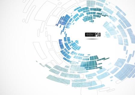 Zusammenfassung blauem Hintergrund. Vektor-Illustration. Eps 10. Standard-Bild - 16952036