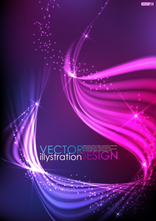 Abstract neon waves. Vector illustration. Eps 10. Stock Vector - 16952019