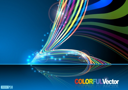 Abstract colorful background.  illustration. Stock Vector - 16957442