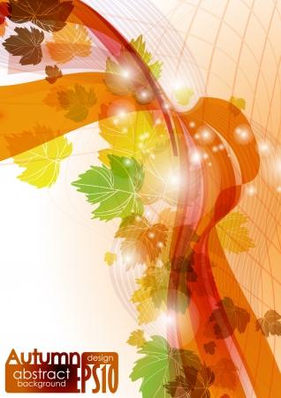 Abstract autumn background.  illustration. Stock Vector - 16957545