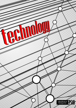 Technology background. Vector illustration. Stock Vector - 16977253