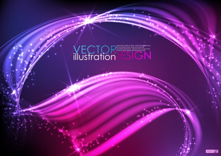 Abstract neon waves. Vector illustration. Stock Vector - 16977322