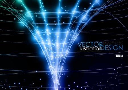 Neon technology background. Vector illustration.  Illustration