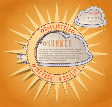 Summer background. Vector illustration Vector