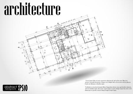 Architektonischen Hintergrund. Vektor-Illustration. Standard-Bild - 16977156