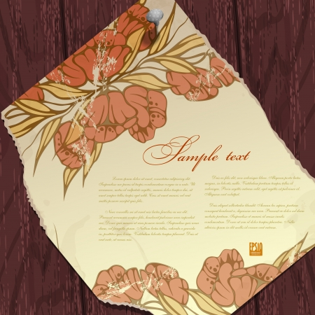 Autumn background with flower.  Vector illustration. Eps 10. Vector