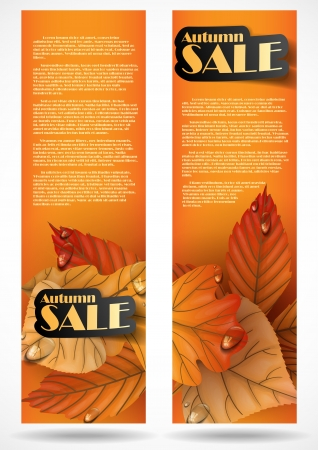 Autumn sale. Vector illustration Vector