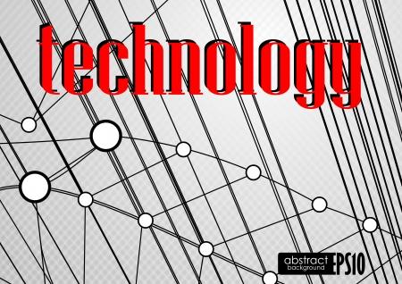 Technology background. Vector illustration. Eps 10. Stock Vector - 16977619