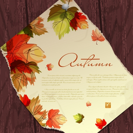 Autumn background with leaves.  Vector illustration. Eps 10. Vector