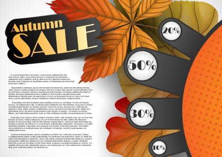 Autumn sale. Vector illustration. Stock Vector - 16977599