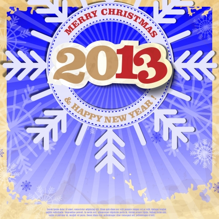 Merry christmas and happy new year. Vector illustration.  Stock Vector - 16977457