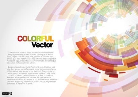 Zusammenfassung bunten Hintergrund. Vektor-Illustration. Standard-Bild - 16977472