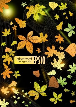 Abstract autumn background. Vector illustration. Stock Vector - 16977582