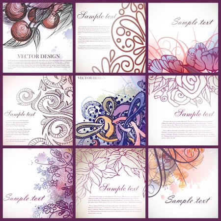 Set of floral backgrounds. Stock Vector - 17206178