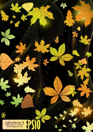 Abstract autumn background.  Stock Vector - 17206056