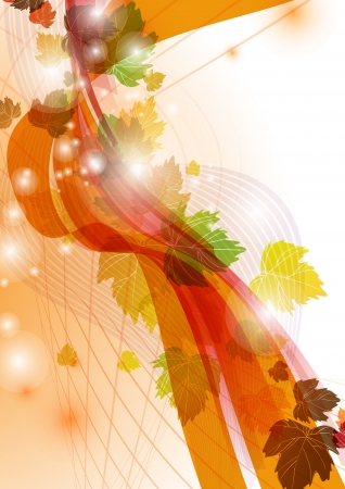Abstract autumn background photo