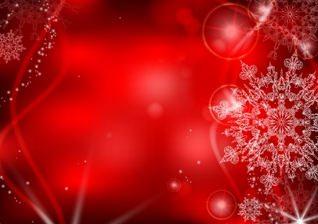 snowflake background: Red background with snowflakes