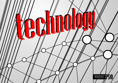 Technology background. Vector illustration. Eps 10. Stock Vector - 17697603