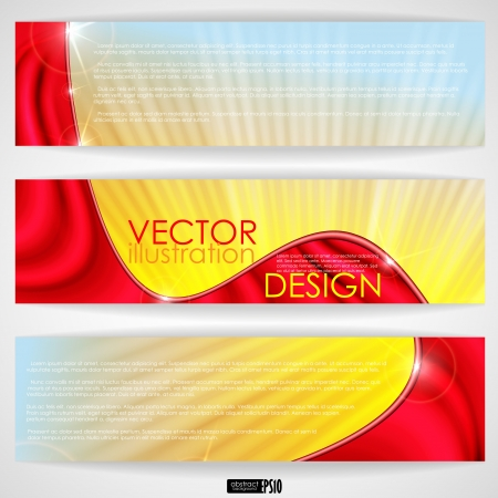 Abstract colorful banner. Vector illustration. Eps 10. Stock Vector - 17697605