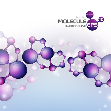 molecular biology: 3d molecule background  Vector illustration