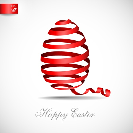 Easter ribbon egg. Vector