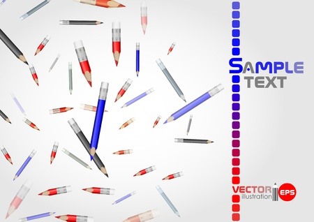 Pencil background. Vector illustration.  Vector