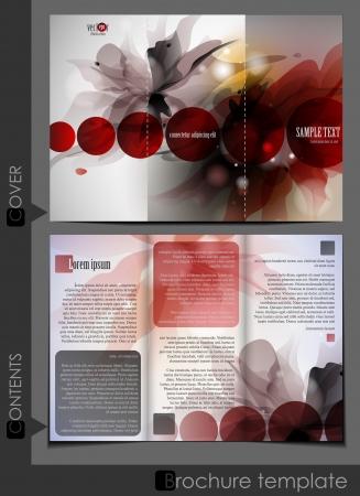 bijsluiter: Brochure template design. Vector illustratie. Stock Illustratie