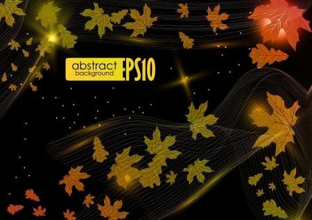 Abstract autumn background. Vector illustration. Stock Vector - 18465379