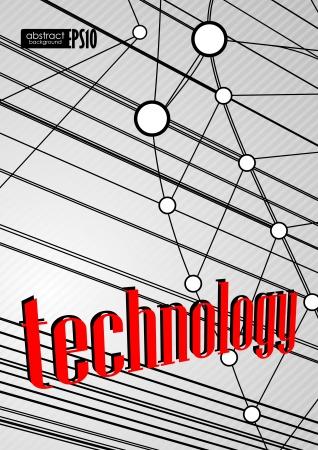 Technology background. Vector illustration. Stock Vector - 18465353
