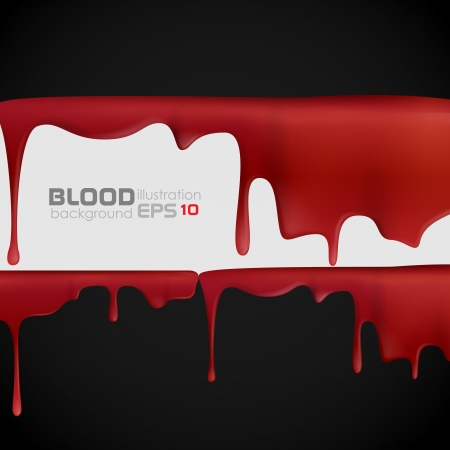 blood stain: Dripping blood. Vector illustration.  Illustration