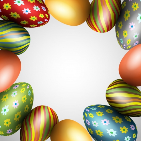 Colorful easter eggs Stock Photo - 18494943