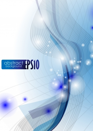 Blue wave abstract background  Vector illustration   Vector