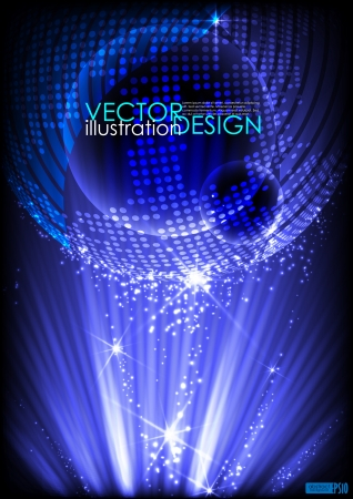 Abstract planet background  Vector illustration  Vector