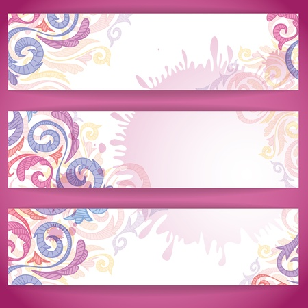 Set of colorful banners  photo